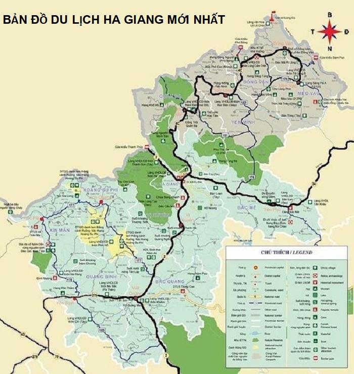 Bản đồ du lịch Hà Giang mới nhất