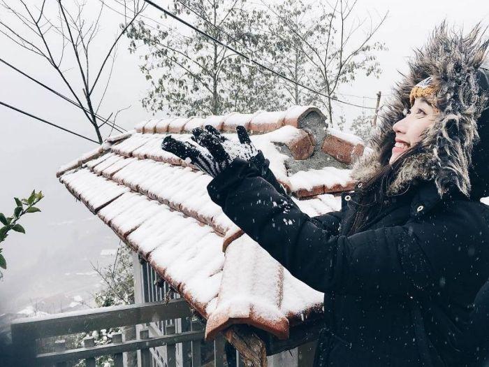 Khung cảnh tuyết rơi tại Sapa là địa điểm sống ảo lý tưởng đấy