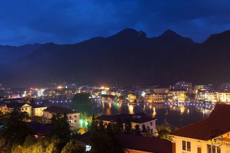 Vẻ đẹp của thị trấn Sapa về đêm