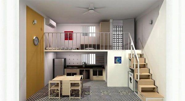 Trung cung (khoảng giữa phòng) cần thoáng đãng và tránh ăn ngủ tại khu vực này