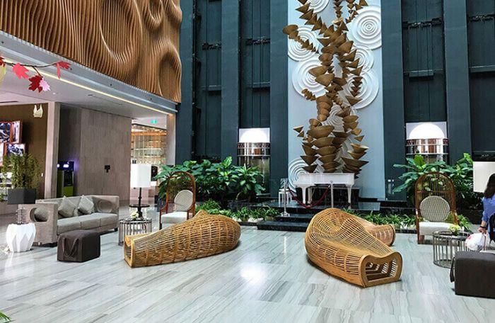 Sảnh khách sạn thiết kế hiện đại, độc đáo gây ấn tượng với du khách