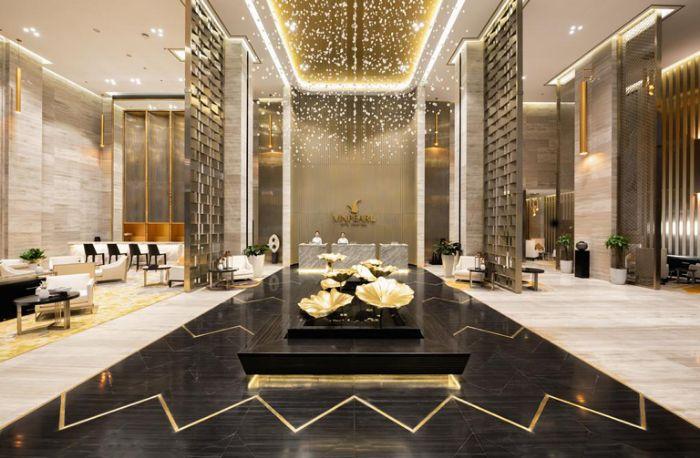 Thiết kế của sảnh khách sạn