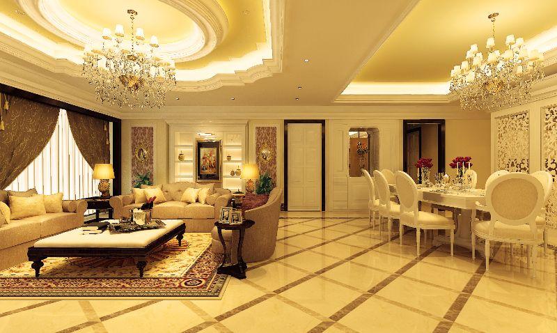 Phòng khách và phòng bếp thông nhau