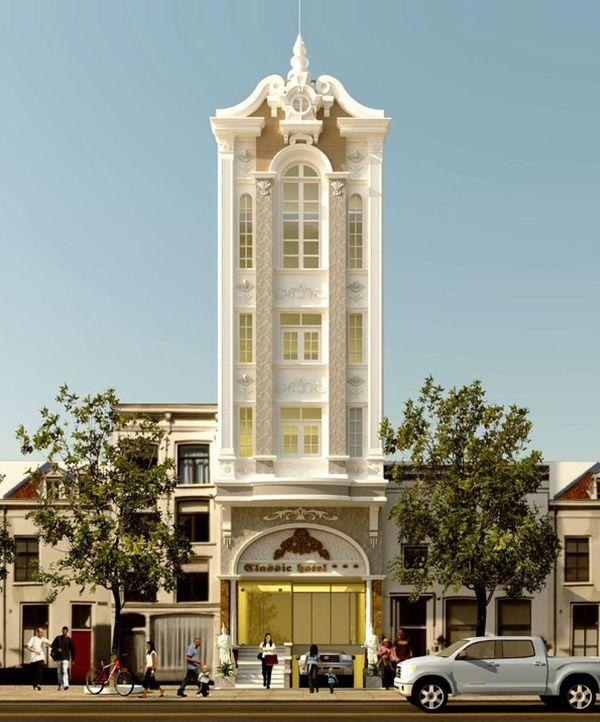 Mô hình một khách sạn tân cổ điển 3 sao
