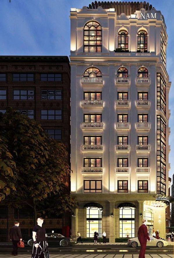 Mô hình khách sạn tân cổ điển 4 sao