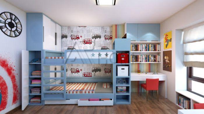Mẫu thiết kế nội thất cho phòng ngủ của bé