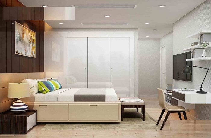 Nội thất phòng riêng sử dụng gam màu tinh tế giữa nâu và trắng