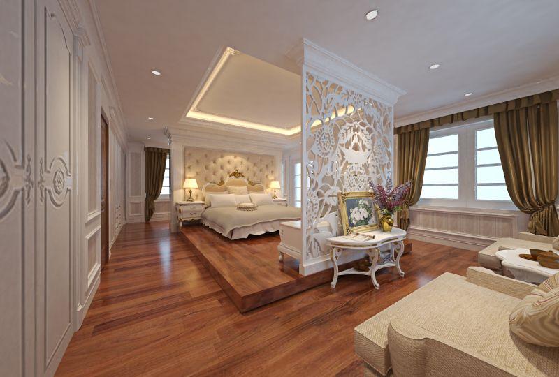 Sự sang trọng của phòng ngủ nội thất tân cổ điển