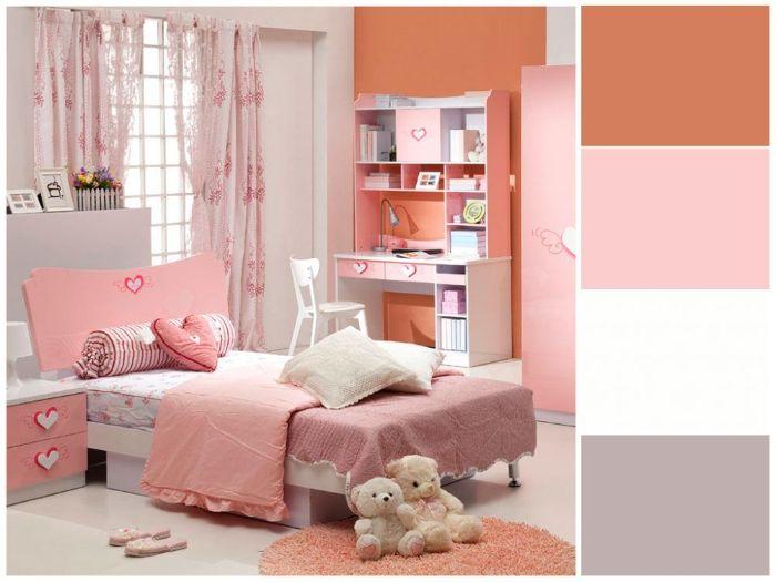 Phòng ngủ kết hợp giữa 2 tông màu pastel chủ đạo