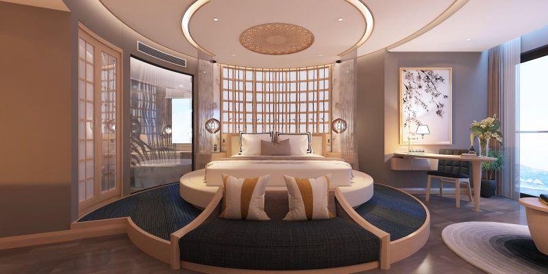 Phòng ngủ sang trọng của khách sạn 5 sao