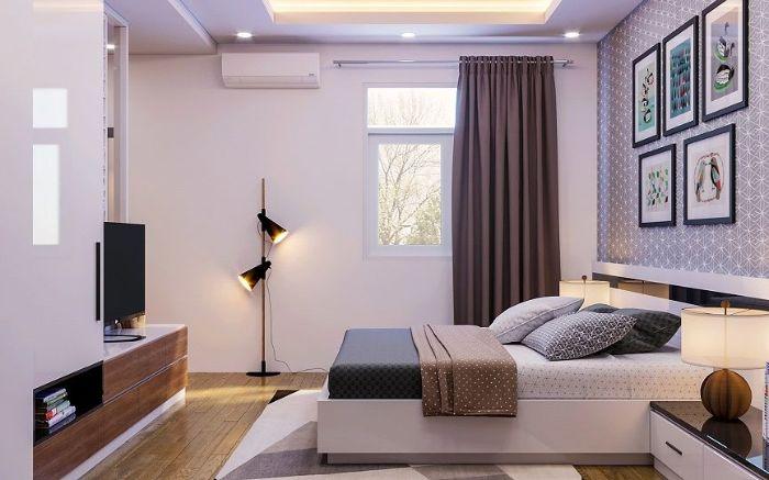 Phòng ngủ theo màu sắc đơn giản và nhẹ nhàng