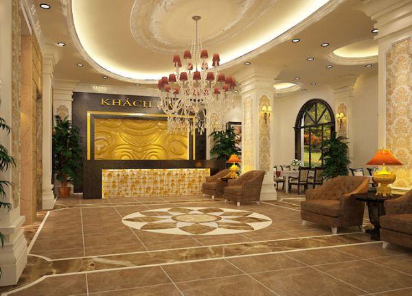 Sảnh một khách sạn tân cổ điển 3 sao