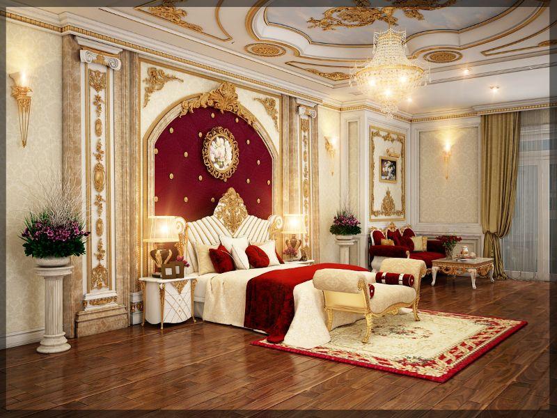 Sự kết hợp hài hòa giữa các họa tiết và màu sắc khiến căn phòng trở nên sang trọng và thanh lịch