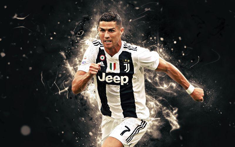 Hình nền Ronaldo bừng bừng khí thế trên sân đấu