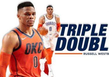 Russell Westbrook vượt trội trong thành tích triple double