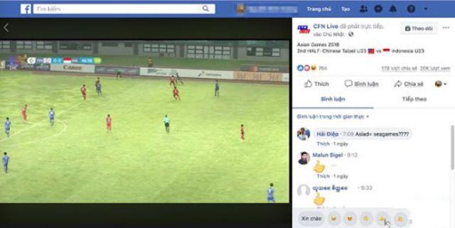 Không ít lần người dùng sẽ bị gián đoạn khi xem bóng đá trên Facebook