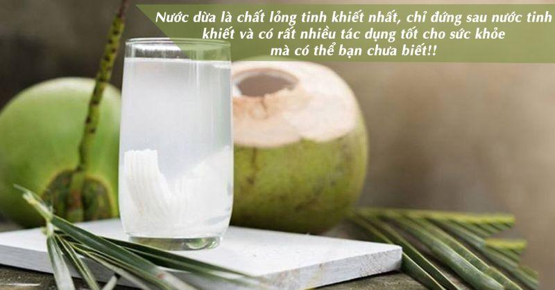 Những chất dinh dưỡng có trong nước dừa