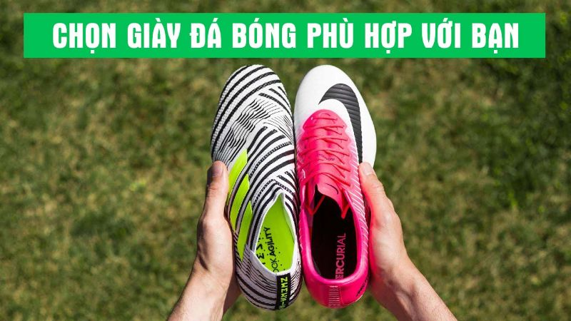 Chọn giày đá bóng theo hình dáng chân