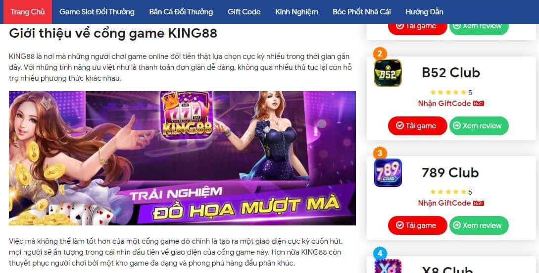 Cổng game King88